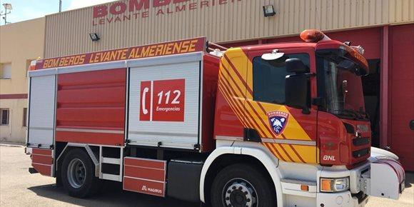 9. El incendio de un camión provoca el corte de la A-7 en Sorbas (Almería), en sentido Murcia