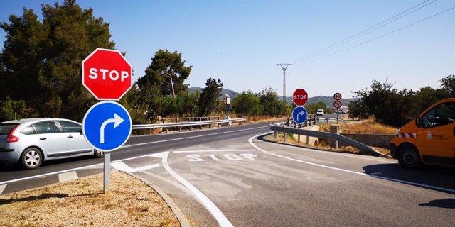 Tráfico, señales, stop, carretera