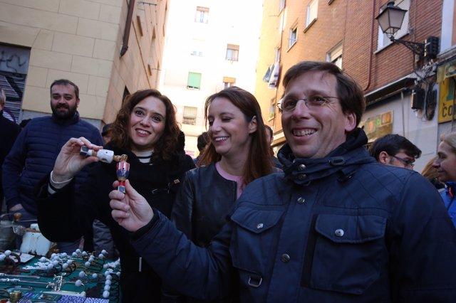 Almeida, Díaz Ayuso y Levy