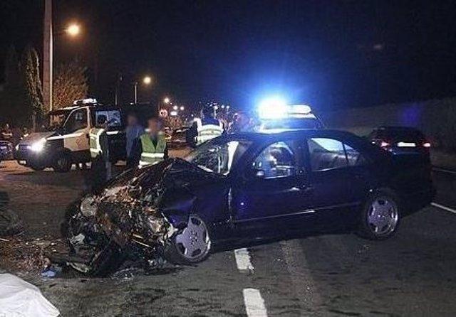 Valladolid.- Estado en el que quedó el vehículo después del accidente