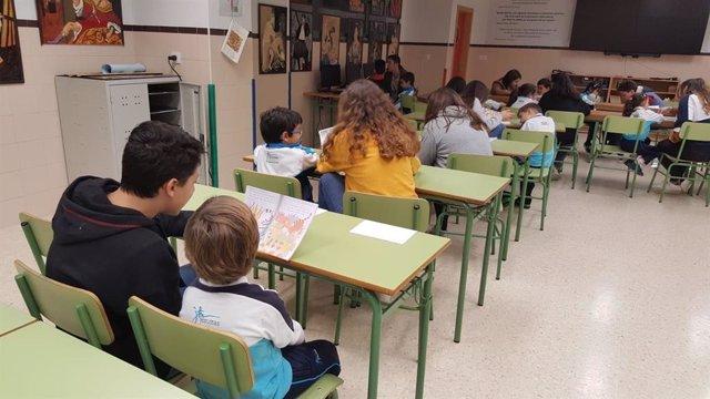 Alumnos colegio San José Málaga jesuitas proyecto piloto lectura inglés mondejar