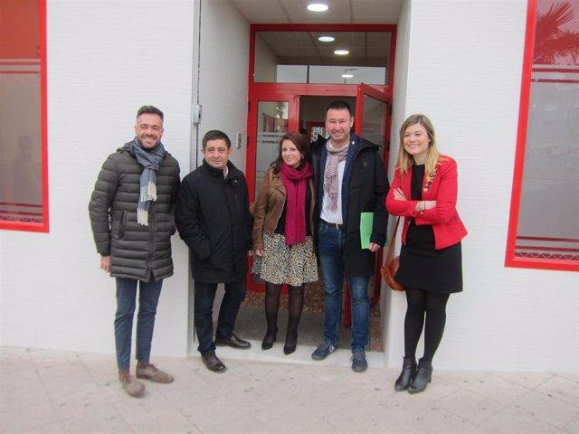 Lastra en la inauguración de la Casa del Pueblo de Linares