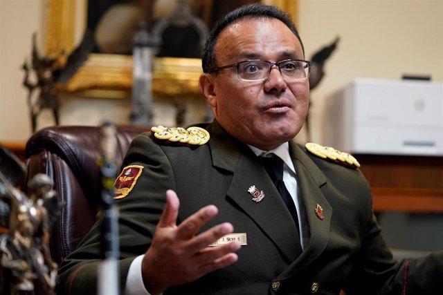 El agregado de Defensa de Venezuela en Estados Unidos, el coronel José Luis Silv