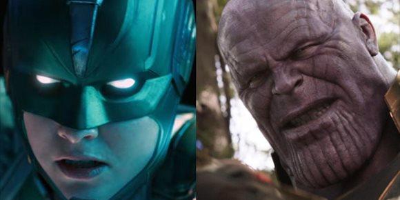 9. Vengadores Endgame: Capitana Marvel rompe a Thanos en este brutal fan art