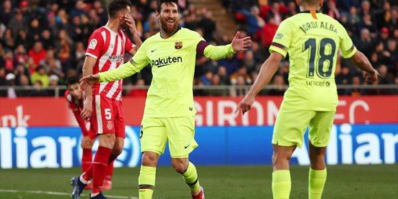 1. Messi lidera al Barça en Montilivi y afianza el liderato
