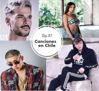 Las 10 canciones más escuchadas en Chile por Spotify