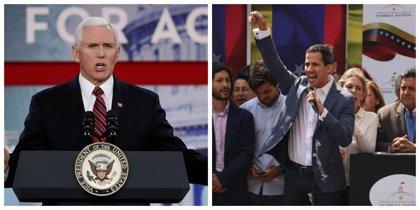 ¿Una llamada secreta del vicepresidente de EEUU a Juan Guaidó fue el detonante del 'plan Venezuela'?