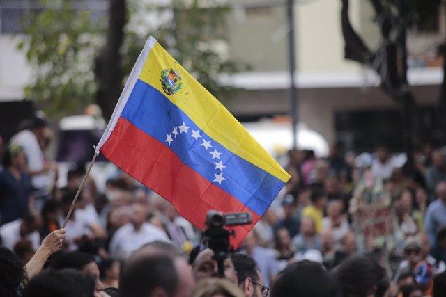 Partidarios de Guaidó en Caracas