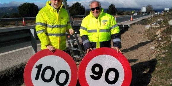 5. Este martes entra en vigor la reducción de velocidad a 90 km/h en carreteras convencionales