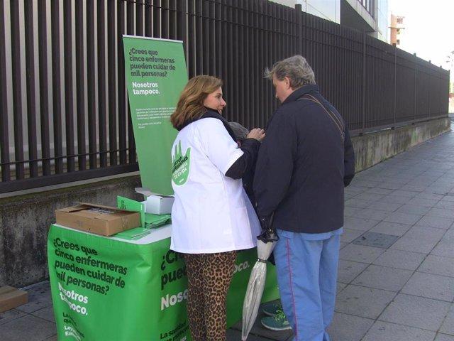 Recogida de firmas de Satse en Andalucía
