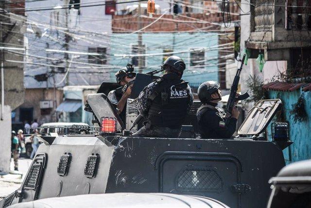 Operación policial en Caracas