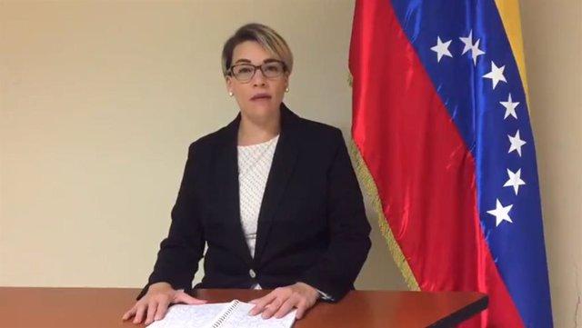 La cónsul primera de Venezuela en Miami, Scarlet Salazar