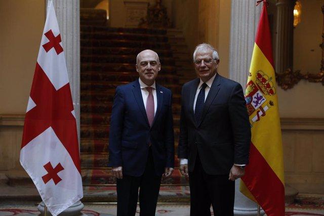 Reunión de Josep Borrell con el ministro de Asuntos Exteriores de Georgia, David
