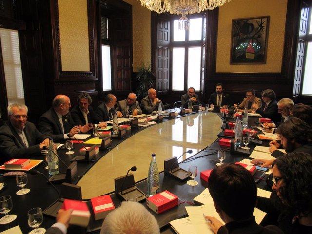 Reunió de la Junta de Portaveus del Parlament