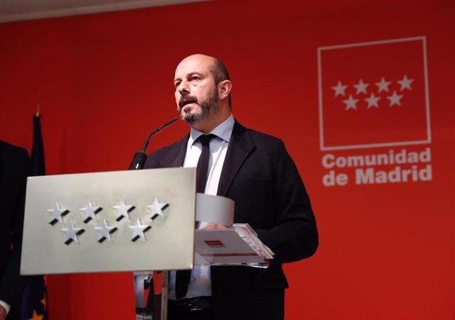 El vicepresidente del Gobierno de la Comunidad de Madrid, Pedro Rollán
