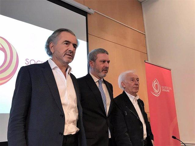 Bernard-Henri Lévy (filósofo), Josep Ramon Bosch (SCC), Albert Boadella (autor t