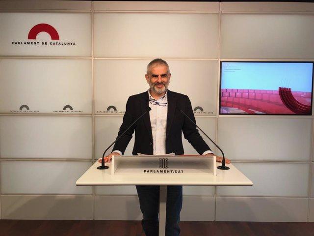 El portaveu de Cs al Parlament, Carlos Carrizosa