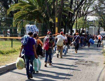 Alrededor de 3.000 migrantes se instalarán en las próximas horas en un albergue temporal en Ciudad de México