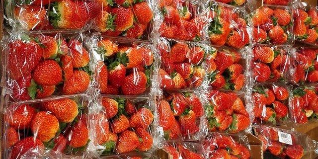 Fresas sobreenvasadas