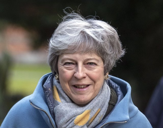 UK Prime Minister attends church service in England