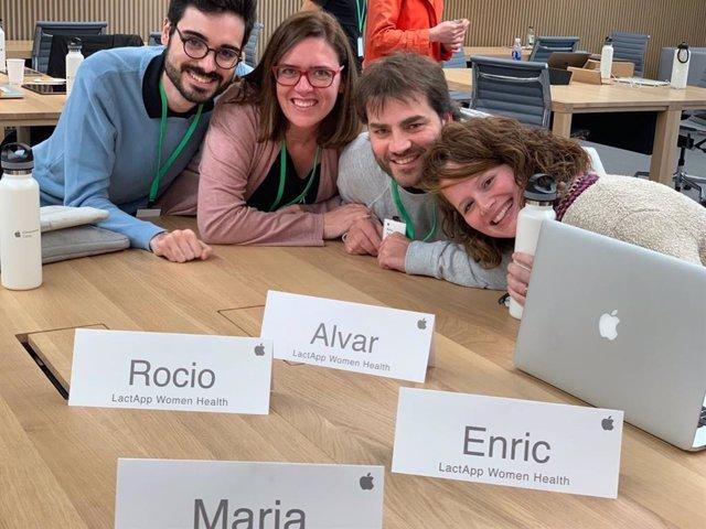 Equip de l'startup catalana Lactapp al Campus d'Emprenedores d'Apple