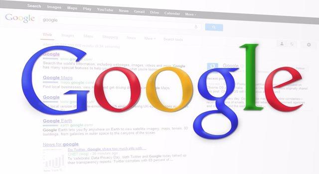 Imatge web principal de Google