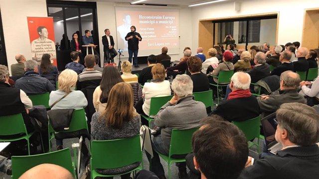 Presentació de la candidatura europea de Javi Lóepz (PSC)