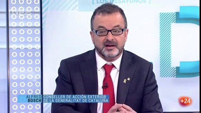El conseller d'Acció Exterior de la Generalitat, Alfred Bosch, a TVE