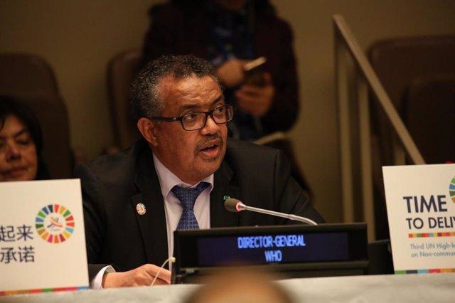El director general de la OMS en la Asamblea de la ONU
