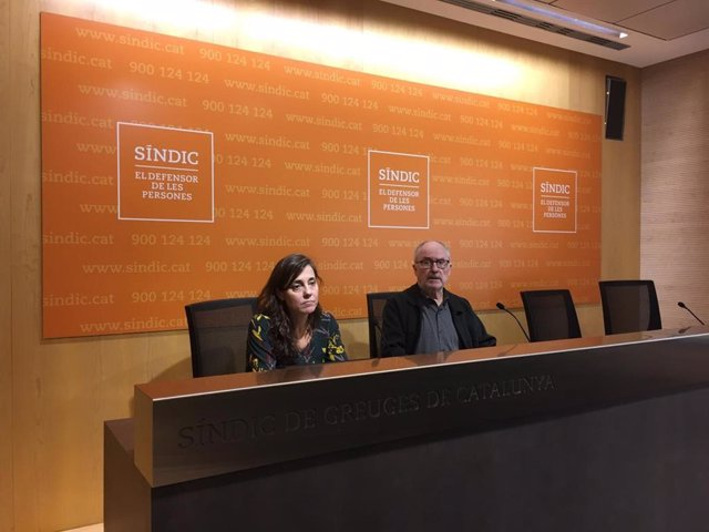 ARXIVU / El Síndic de Greuges Rafael Ribó i l'adjunta Maria Jesús Larios