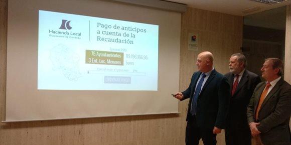 7. El anticipo de recaudación de la Diputación de Córdoba a los ayuntamientos asciende este año a los 119,20 millones