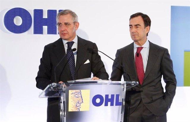 Juan Villar-Mir y el consejero delegado de OHL
