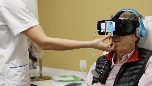 El Ruber Internacional incorpora el uso de gafas virtuales durante el tratamient