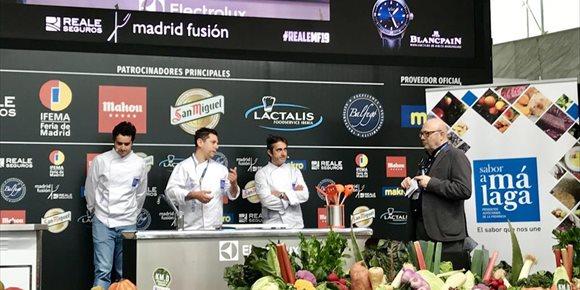 6. Tres chefs Estrella Michelin ofrecen un 'showcooking' con productos malagueños en Madrid Fusión