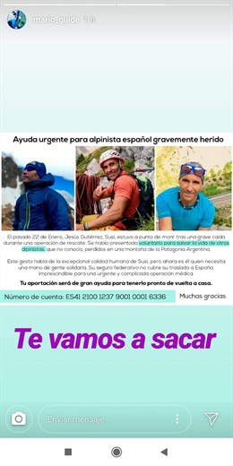 Alpinista madrileño herido en Argentina