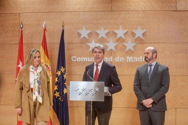 El presidente de la Comunidad de Madrid, Ángel Garrido comparece para valorar la