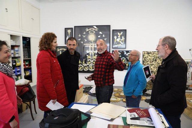 Gómez Morante y Murgui visitan el antiguo polígono ISO de Carabanchel