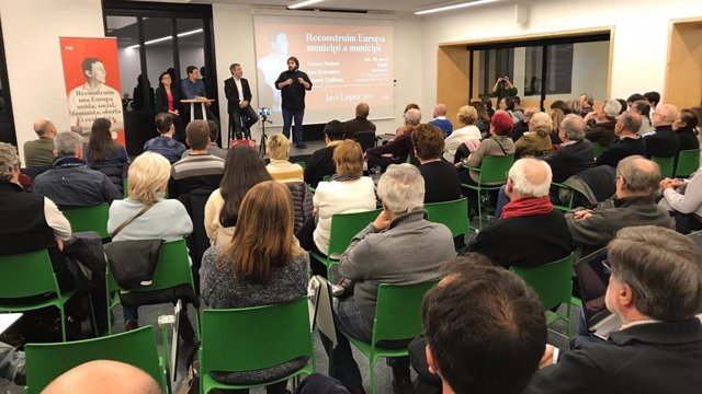 Presentació de la candidatura europea de Javi López (PSC)