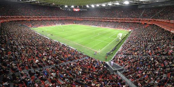 7. San Mamés, con 48.121 espectadores, bate el récord de asistencia a un partido de fútbol femenino en España