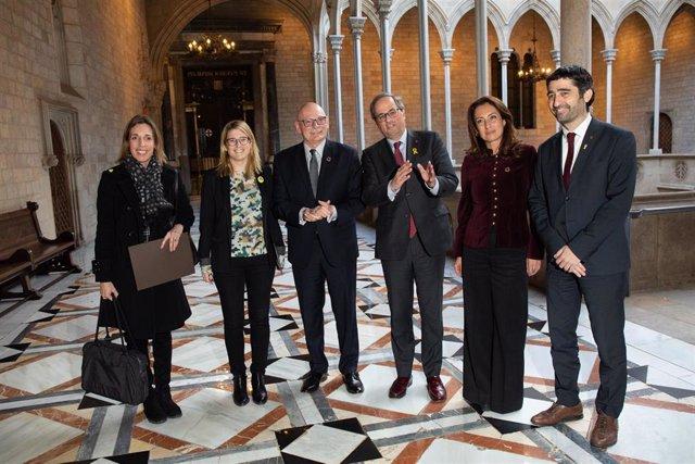 Reunió del president de la Generalitat, QuimTorra, amb el conseller delegat d