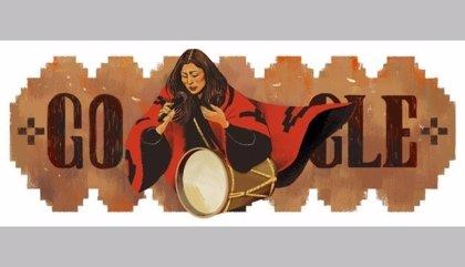 Google homenajea a la cantante argentina Mercedes Sosa con un 'doodle'