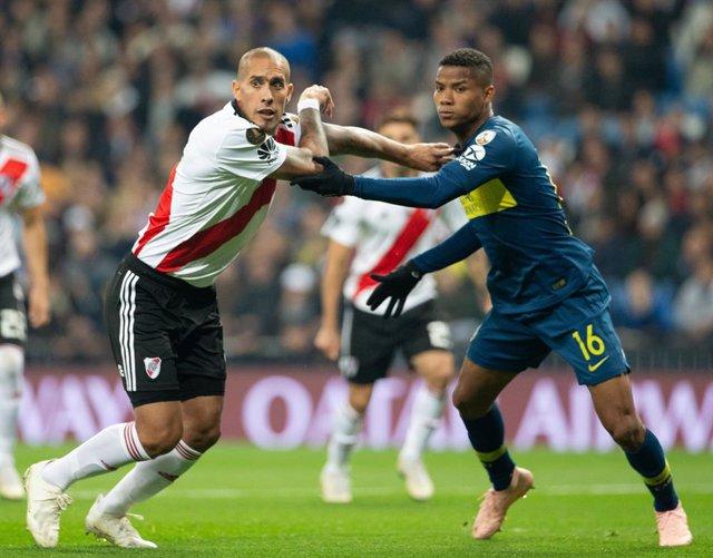 Wilmar Barrios pelea con Maidana en el River-Boca de la Libertadores