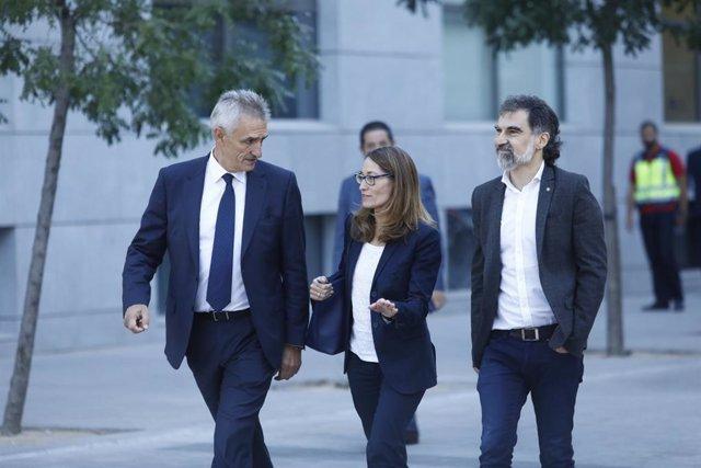 Jordi Cuixart arriba a l'Audiència Nacional (arxiu)