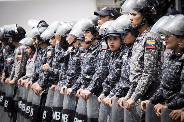 Despliegue policial en Caracas