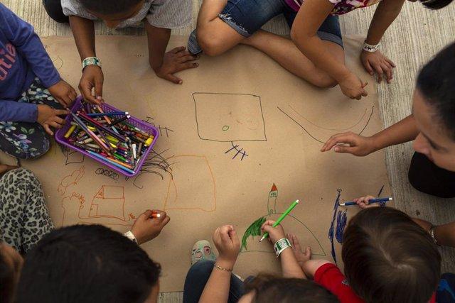Niños migrantes llegados a México