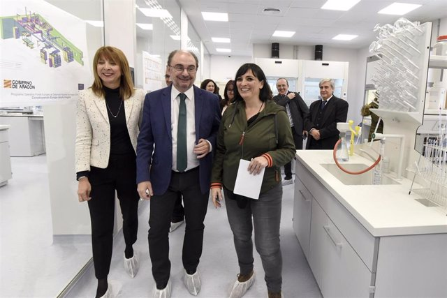 Javier Lambán ha visitado el laboratorio