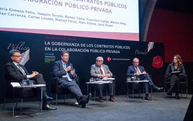 Presentació d'un estudi sobre col·laboració público-privada (CPP)