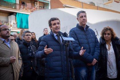 """Casado demana a Sánchez """"que no comerciï amb la justícia"""" a les portes del judici de l'1-O"""