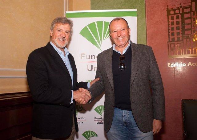 Francisco Alonso y Sebastián Rodríguez firman un acuerdo entre Fundación Unicaja