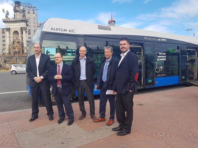 Autobús en proves d'Alstom a Barcelona